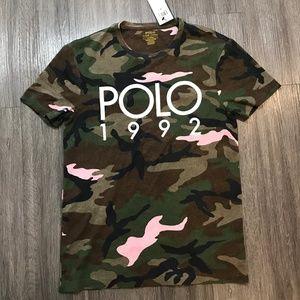 Ralph Lauren Polo Pink Camo 1992 T Shirt NWT Mens